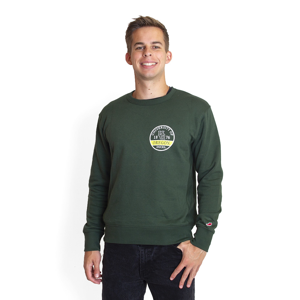 1876, Interlocking UO, League, Stadium, Crew, Sweatshirt, Pullover